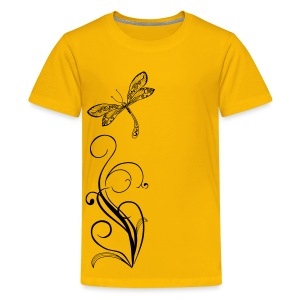 BB Monde Tribal Dragonfly from South Seas - Kids' Premium T-Shirt
