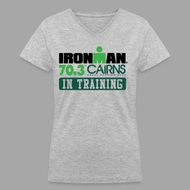 70.3 Cairns In Training Women's V-Neck T-shirt