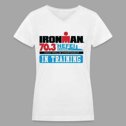 70.3 Hefei In Training Women's V-Neck T-shirt - Women's V-Neck T-Shirt