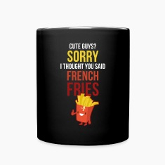 Cute Guys French Fries Funny Unique Gift T-shirt Mugs & Drinkware