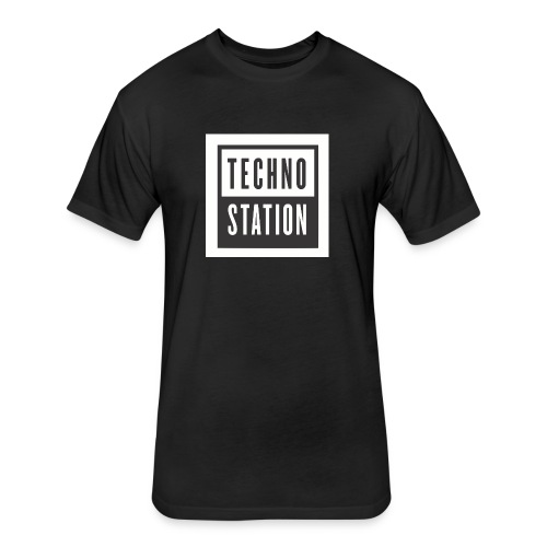 techno station - Fitted Cotton/Poly T-Shirt by Next Level
