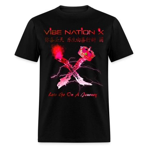 VibeNationX T-Shirt (men) | Ruby Red Version - Men's T-Shirt