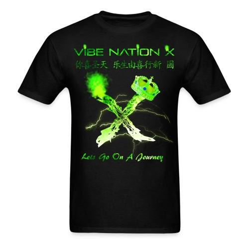 VibeNationX T-Shirt (Men)   Jade Green Version  - Men's T-Shirt