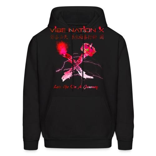 VibeNationX Hoodie (Men)  Ruby Red Version  - Men's Hoodie