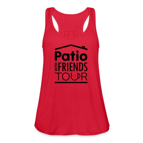 Patio Ladies Tank (Black/Red) - Women's Flowy Tank Top by Bella