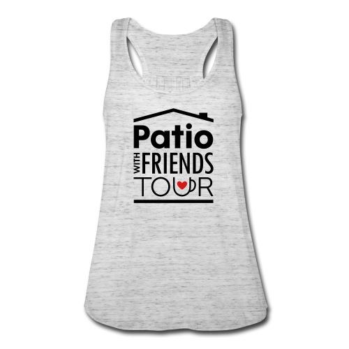 Patio Ladies Tank (Black/Red) - Women's Flowy Tank Top by Bella