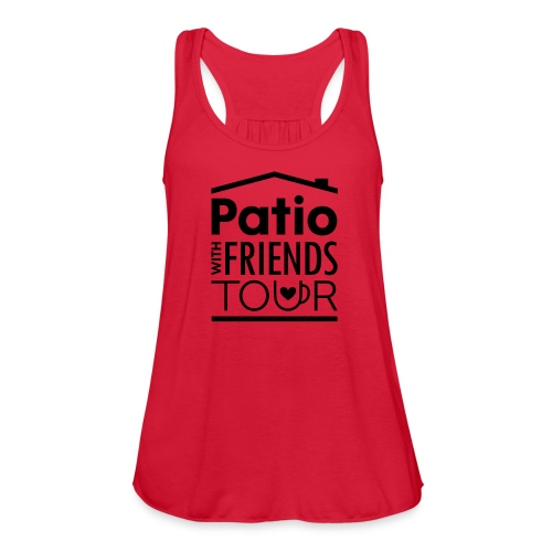 Patio Ladies Tank (Black) - Women's Flowy Tank Top by Bella