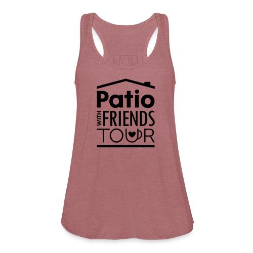 Patio Ladies Tank (Black) - Women's Flowy Tank Top by Bella