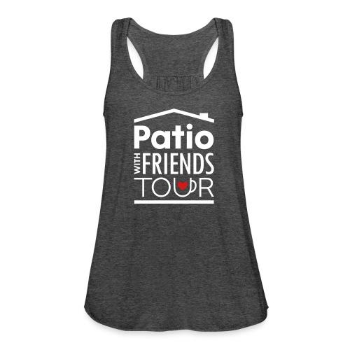 Patio Ladies Tank (White/Red) - Women's Flowy Tank Top by Bella