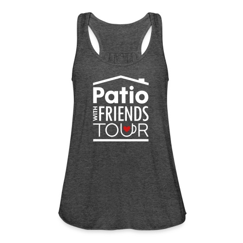Patio Ladies Tank (White/Red) - Women's Flowy Tank Top by Bella