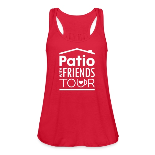 Patio Ladies Tank (White) - Women's Flowy Tank Top by Bella