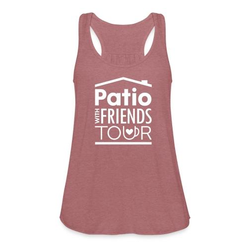 Patio Ladies Tank (White) - Women's Flowy Tank Top by Bella