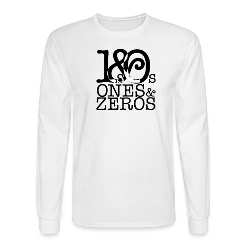 Ones and Zeros Logo Long Sleeve Shirt - Men's Long Sleeve T-Shirt