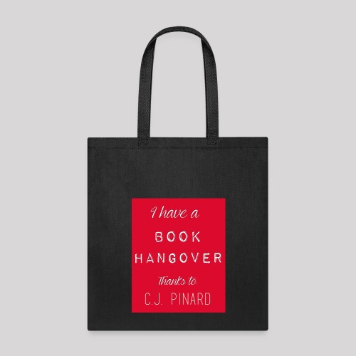 Tote Bag I HAVE A BOOK HANGOVER Black/Red - Tote Bag