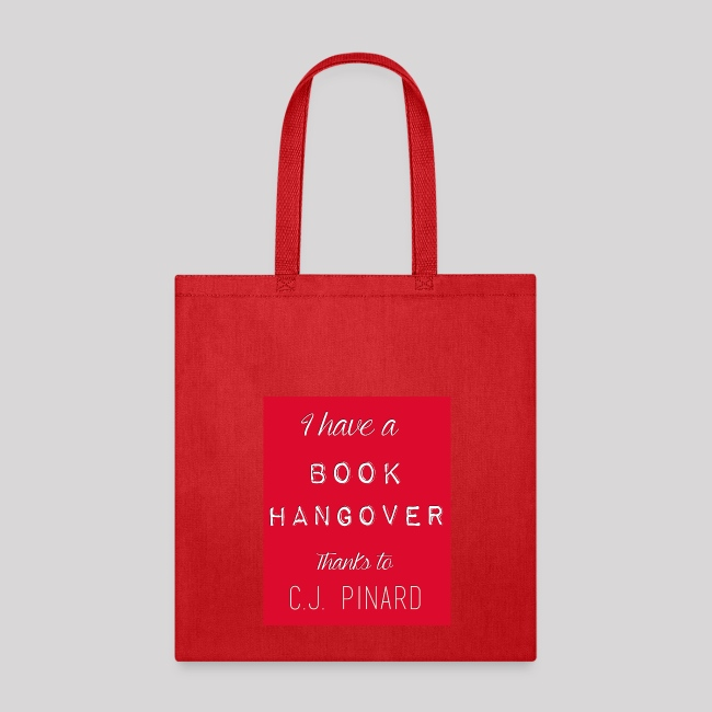 Tote Bag I HAVE A BOOK HANGOVER Red/Red