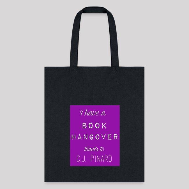 Tote Bag I HAVE A BOOK HANGOVER Purple/Purple