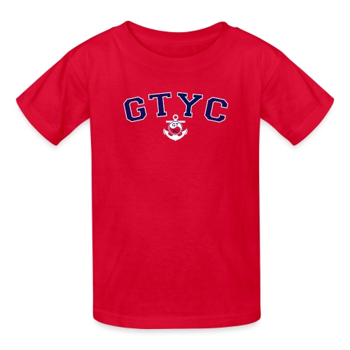Kids' GTYC Collegiate Two Color Logo in Classic Nautical Red - Kids' T-Shirt