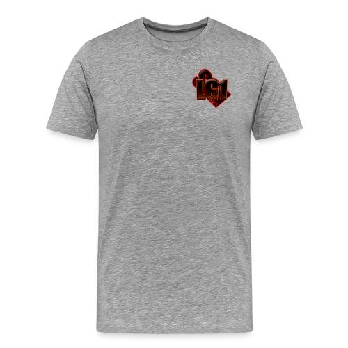 Logo Tee - Gray - Men's Premium T-Shirt