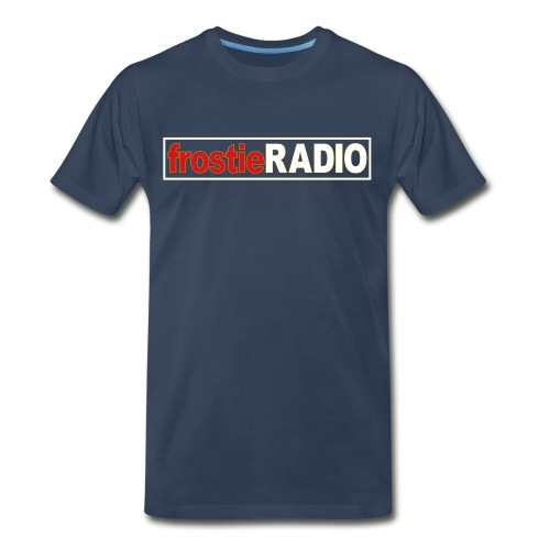 Mens frostieRADIO T-Shirt (Navy Blue) - Men's Premium T-Shirt