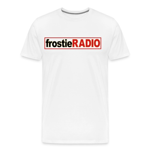 Mens frostieRADIO T-Shirt (White) - Men's Premium T-Shirt