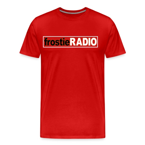 Mens frostieRADIO T-Shirt (Red) - Men's Premium T-Shirt