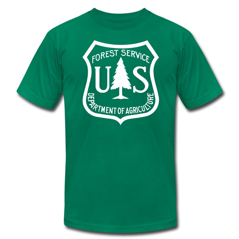 Us forest service logo tee shirt t shirt americana monkey for Rainforest t shirt fundraiser