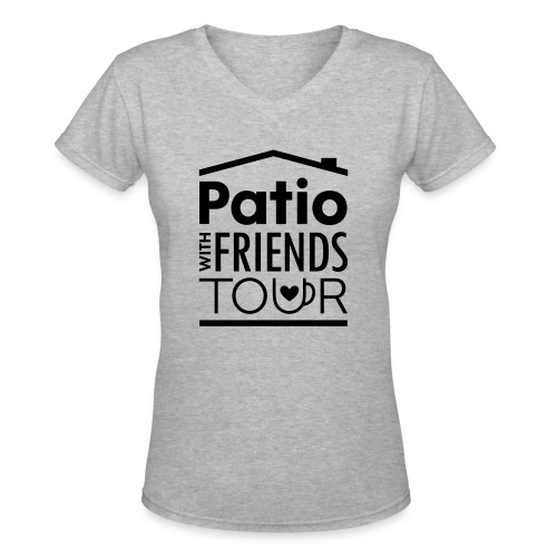 Patio Ladies V-Neck (Black) - Women's V-Neck T-Shirt