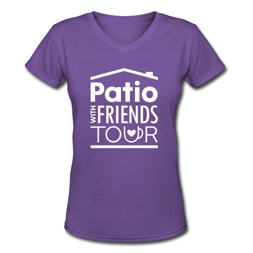 Patio Ladies V-Neck (White) - Women's V-Neck T-Shirt