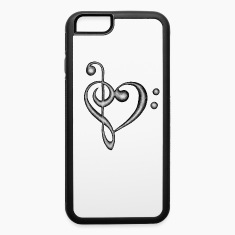 Treble & Bass Clef Heart Hand Drawn Design