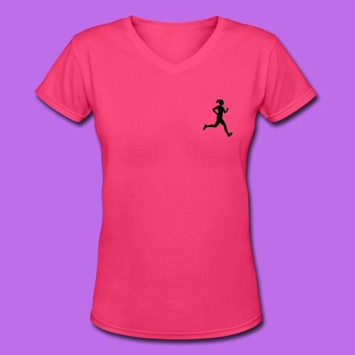 Sporty Tee - Women's V-Neck T-Shirt