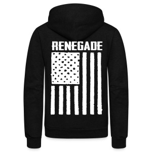 Black Renegade Flag Hoodie - Unisex Fleece Zip Hoodie by American Apparel