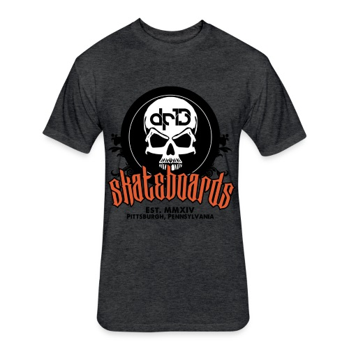 DF13 Skateboards Charcoal/Orange - Fitted Cotton/Poly T-Shirt by Next Level