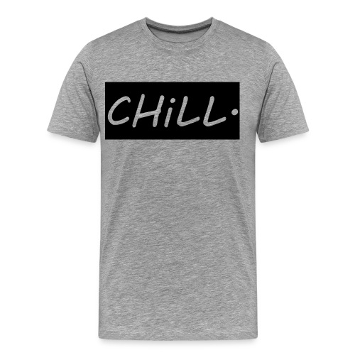 Mens Shirt - Grey/Black cutout - Men's Premium T-Shirt