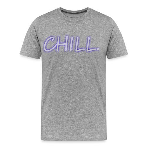 Mens Shirt - Grey/Blue glow - Men's Premium T-Shirt