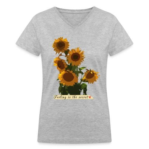 Sunflowers - Women's V-Neck T-Shirt
