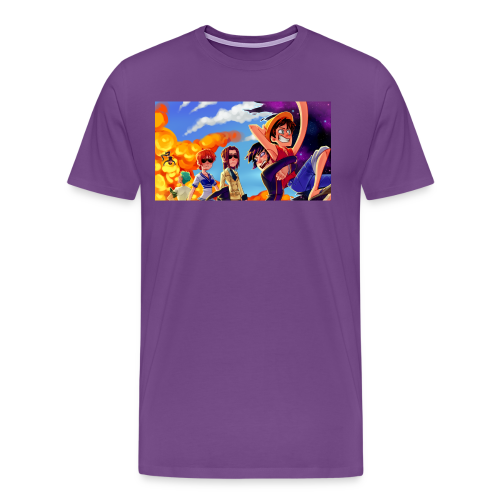 'Purple Explosion'  Men's Tee - Design by Krooked Glasses - Men's Premium T-Shirt
