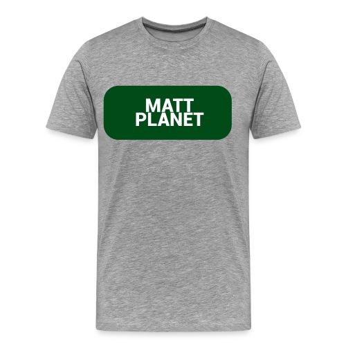 Matt Planet Men's Premium T-Shirt - Gray - Men's Premium T-Shirt