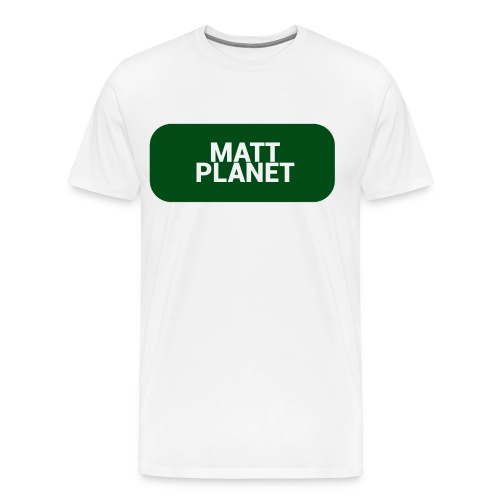 Matt Planet Men's Premium T-Shirt - White - Men's Premium T-Shirt