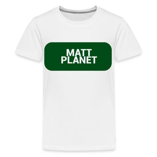 Matt Planet Kid's Premium T-Shirt - White - Kids' Premium T-Shirt