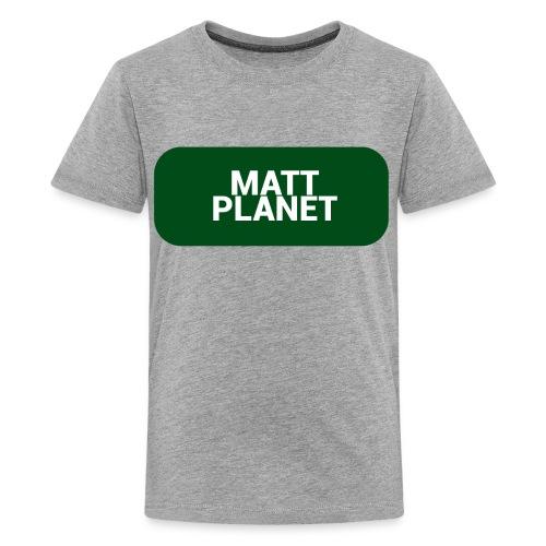 Matt Planet Kid's Premium T-Shirt - Gray - Kids' Premium T-Shirt