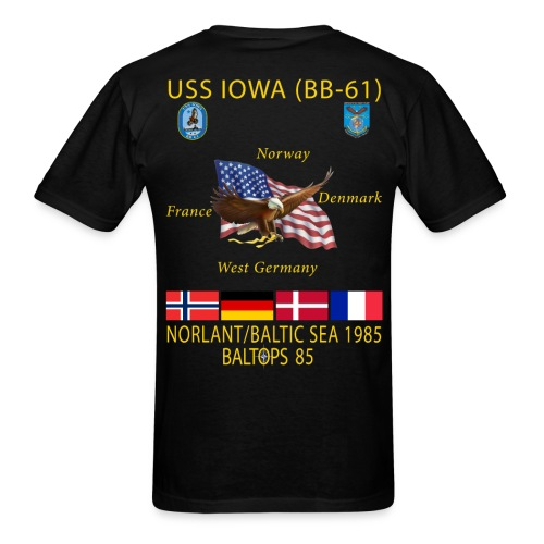 USS IOWA 1985 BALTOPS CRUISE SHIRT - Men's T-Shirt