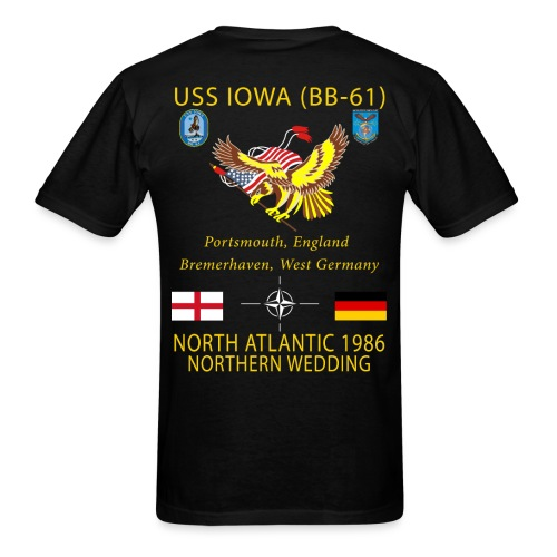 USS IOWA 1986 CRUISE SHIRT - Men's T-Shirt
