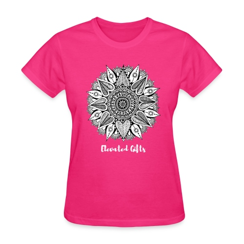 Ladies Mandala Flora Tee - Women's T-Shirt