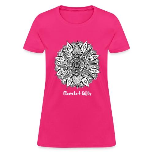 Ladies Mandala Flora Tee - Women's T-Shirt