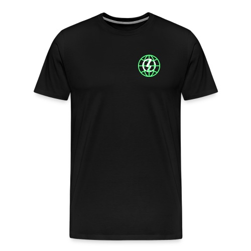 Mens Green Globe By Nolen - Men's Premium T-Shirt