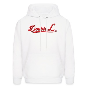 mens double l red and white logo hoodie - Men's Hoodie