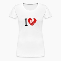 love nordic combined ski jumping heart 2 Women's T-Shirts