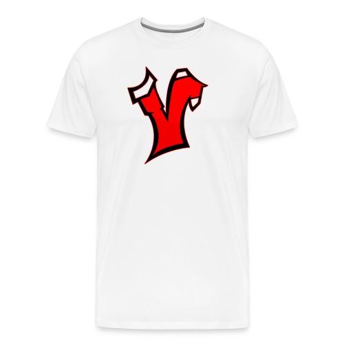 Vertesa: White T Shirt  - Men's Premium T-Shirt