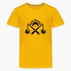 billiard weapon medieval scourge ball Kids' Shirts