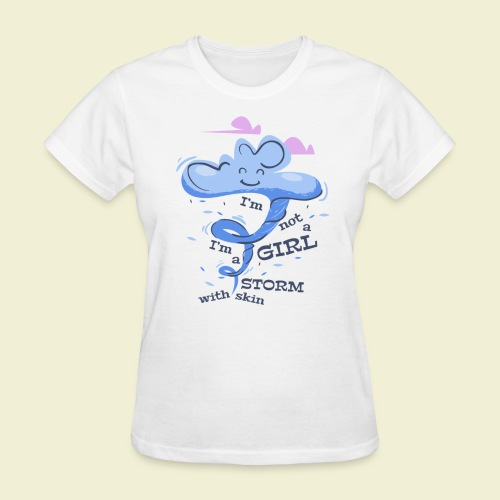A storm with skin - Women's T-Shirt